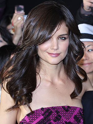 Katie Holmes New Hairstyle, Before and After