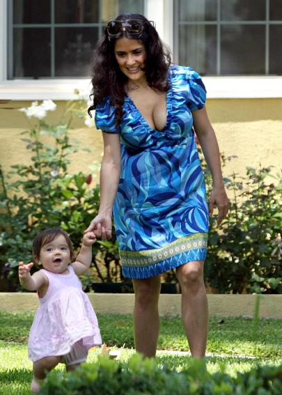 salma hayek husband and daughter. Salma Hayek opens up about