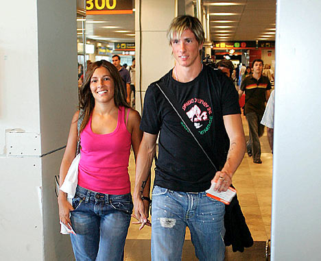 Liverpool striker Torres 25