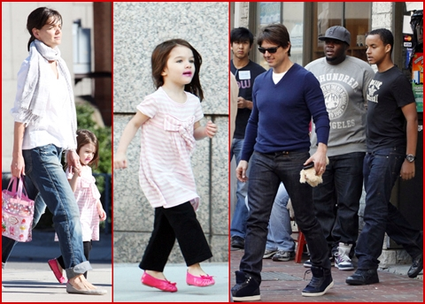 tom cruise long hair. Suri with long hair and pink