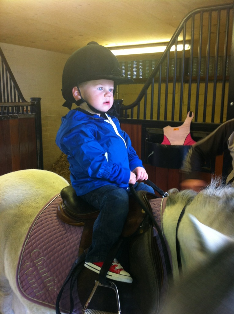 Kai_Rooney_First_Riding_Lesson