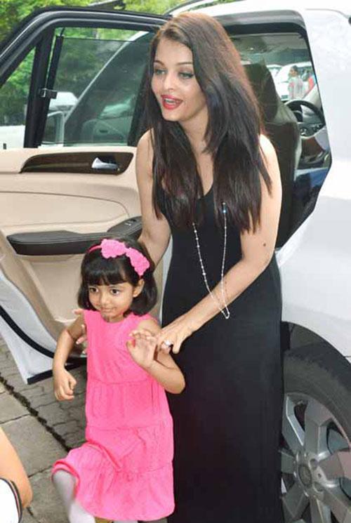 Aishwarya Rai Bachchan and daughter Aaradhya Bachchan